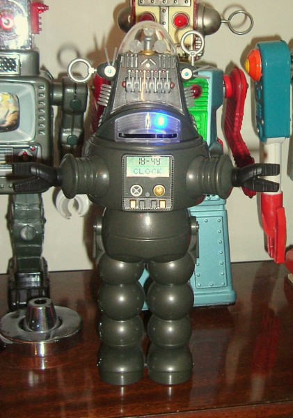 X-Plus Robby the Robot Talking Bank Alarm Clock Japan