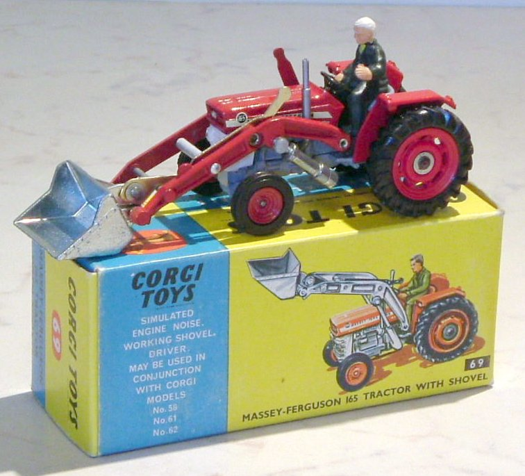 Corgi Massey Ferguson 165 with shovel (O)