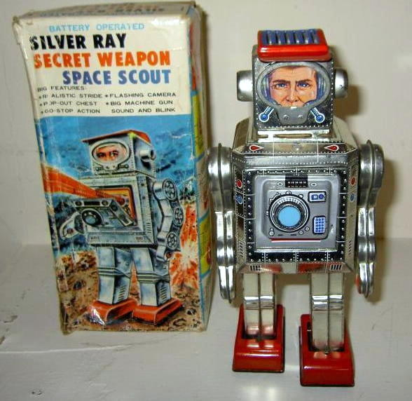 Horikawa Silver Ray Secret Weapon Space Scout robot