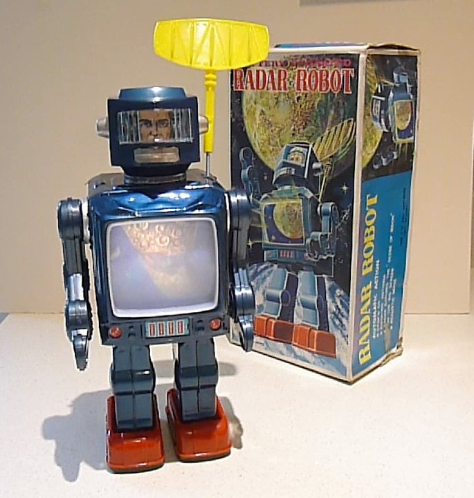 Horikawa Radar Robot blue with Television Screen