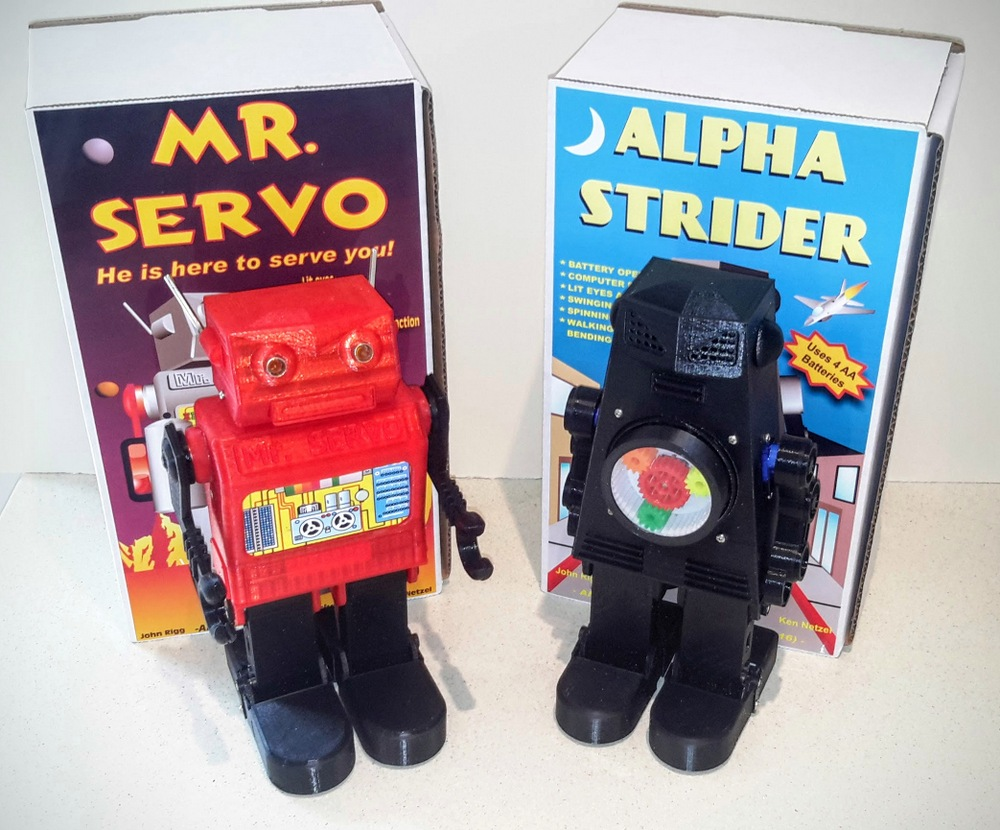 Mr Servo & Alpha Strider John Rigg robot