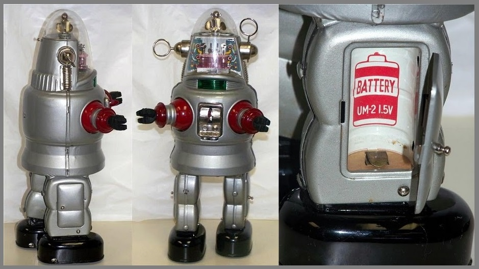 C cell battery Robby Mechanized Robot from Forbidden Planet