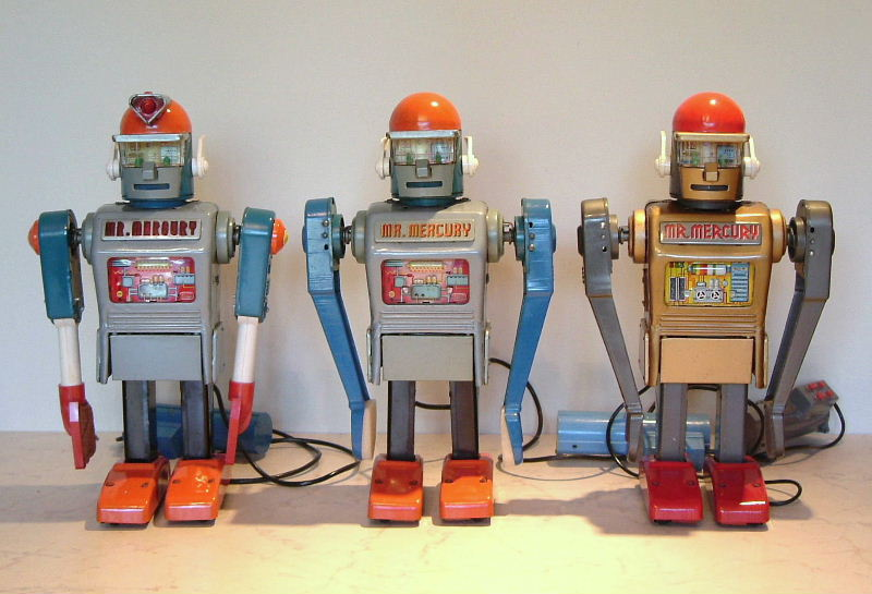Linemar Marx Mr. Mercury Robot, 3 versions