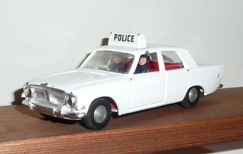 309 Tri-ang Spot On model Ford Zephyr, BBC Z Cars Police Car