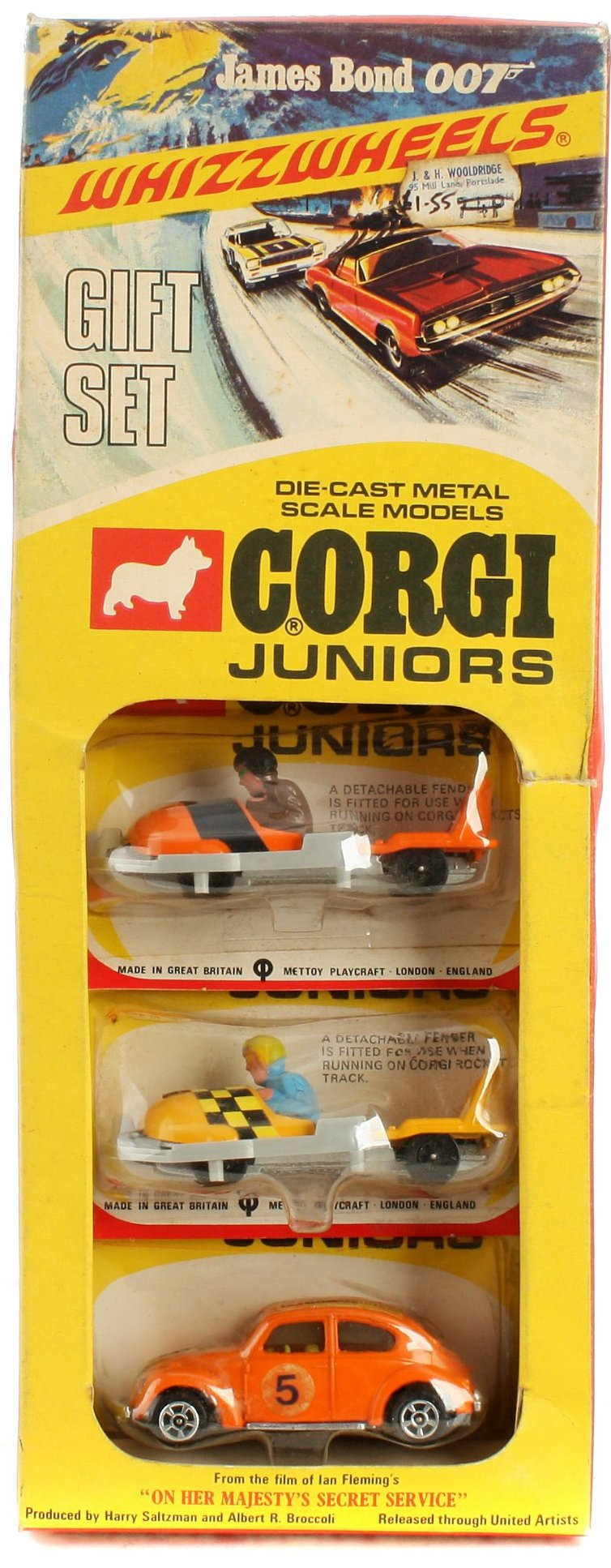 Corgi Juniors OHMSS On Her Majesty's Secret Service set