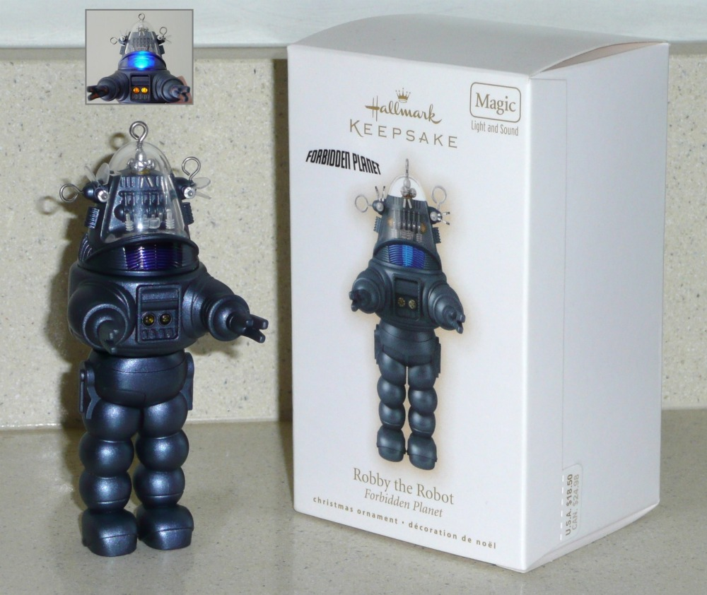Hallmark Robby Robot Christmas Ornament keepsake from Forbidden Planet