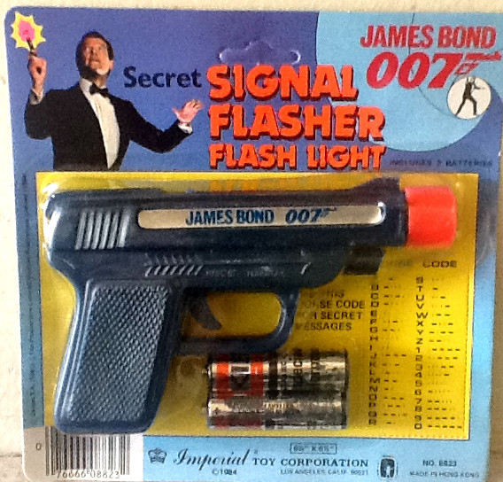 007 James Bond Signal Flasher light, Imperial Toy Corporation