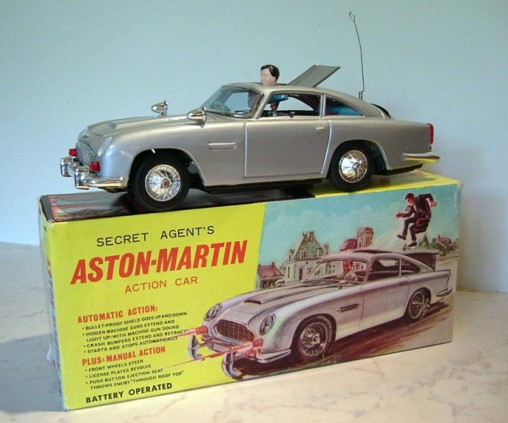 James Bond Aston Martin DB5, Thunderball box 007 (O)